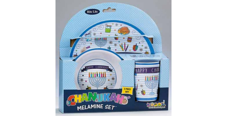 3 Piece Chanukah Children's Melamine Set