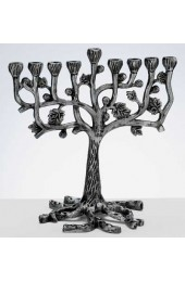 Aluminum Tree Menorah with Leaves