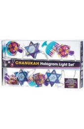 Chanukah Hologram Light Set, 10 Reflectors
