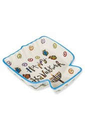 Happy Hanukkah Ceramic Menorah Tidbit Server