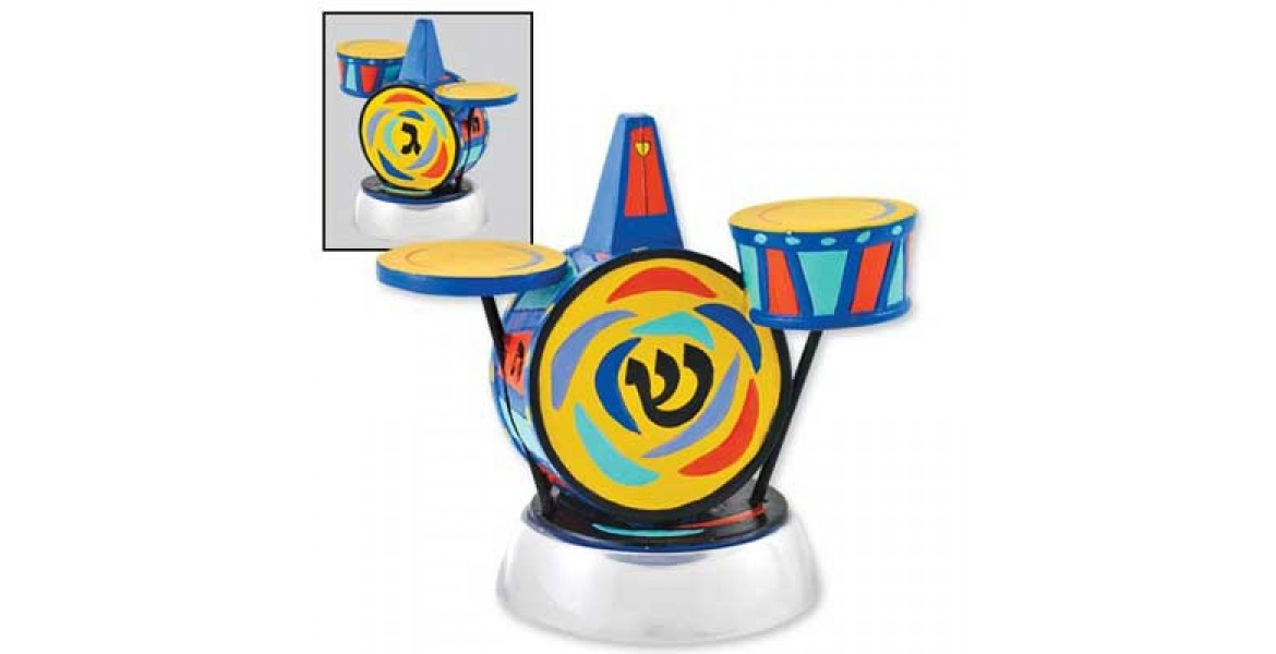 Jessica Sporn Designed Drum Dreidel With Stand