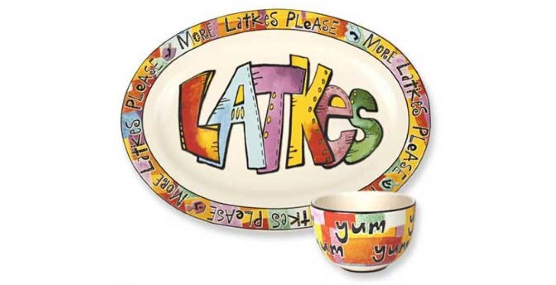 Latke Platter with Yum Dish