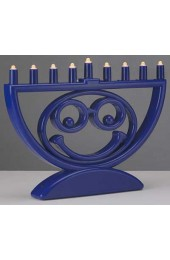 """MENOJI"" - The Battery Operated LED Menorah That Makes You Smile!"