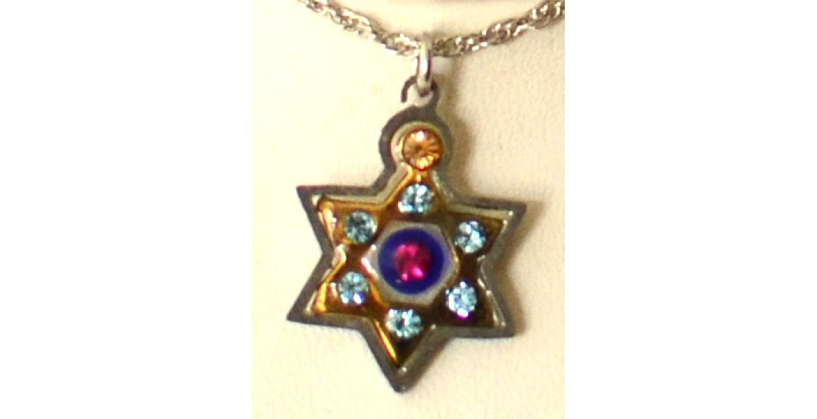 Ayala Bar Star of David Necklace With Stone Insets