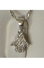 Hamsa Pendent With Chain