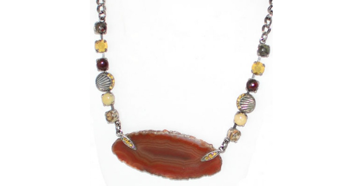 Israeli Necklace With Misc Stones And Charms