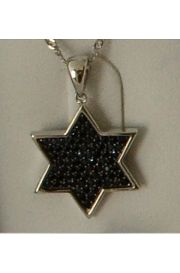 Star Of David Pendent With Chain