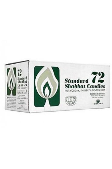 Ner Zion 3 Hour 72 Count Shabbat Taper Candles Israeli