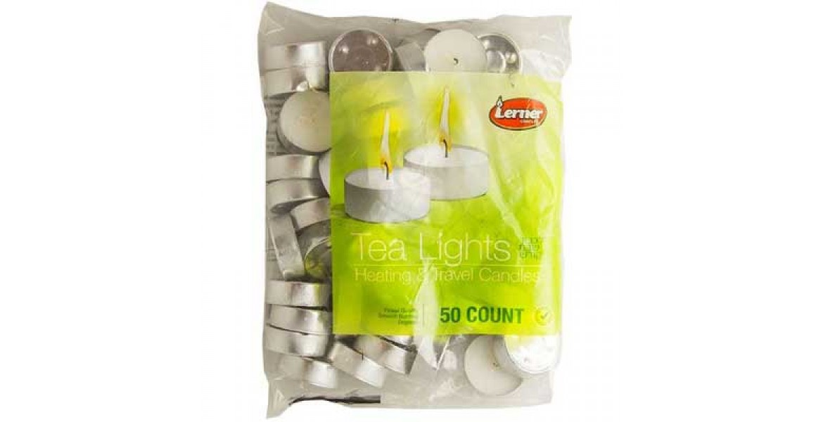 Lerner Tea Lights - 50 Candles Pak