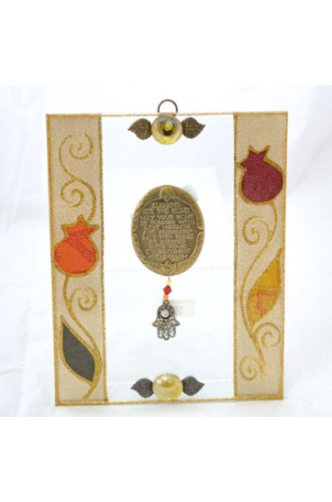 Glass Home Blessing With Hamsa - English