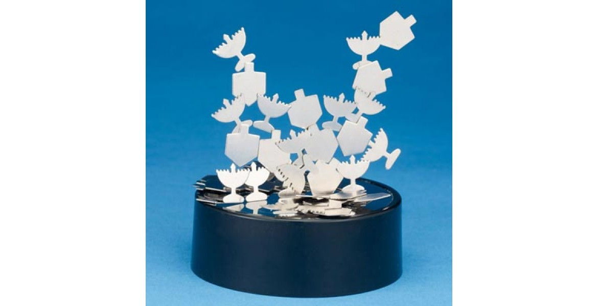 Chanukah Kinetic Magnetic Sculpture, Assorted Shapes