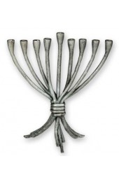 Art Deco Silver Menorah Small
