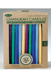 Beeswax Chanukah Candles - Multi Color