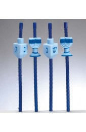 Chanukah Dreidel and Menorahs straws