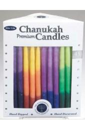 Premium Chanukah Candles -Tri-Color