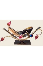 Gary Rosenthal Designed Copper Leaved Shofar Holder