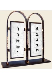Gary Rosenthal Designed Customizable Bookends: Ten Commandments