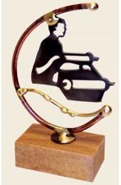 Gary Rosenthal Designed Laser-cut steel Bar Mitzvah sculpture