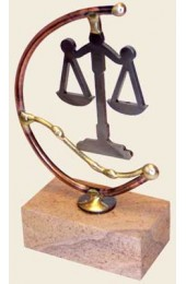 Gary Rosenthal Designed Laser-cut steel  Scales of Justice sculpture
