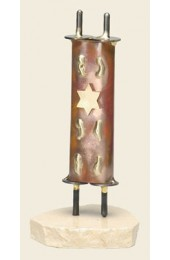 Gary Rosenthal Designed Small Torah sculpture with star