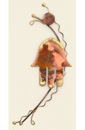 Gary Rosenthal Designed Vertical copper Hamsa wall art
