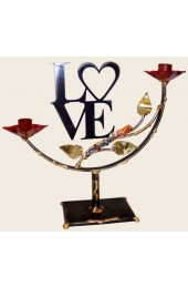Large Laser-Cut Love Shards Candlestick Designed By Gary Rosenthal
