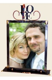 Large Love Wedding Frame with Shards Designed By Gary Rosenthal