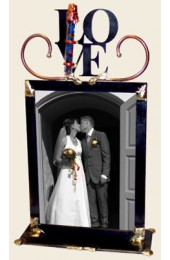Medium Love Wedding Frame with Shards Designed By Gary Rosenthal