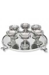 7 Piece Seder Plate Set From The Iris Collection