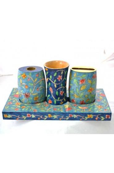 Hand Painted Wood Havdalah Set
