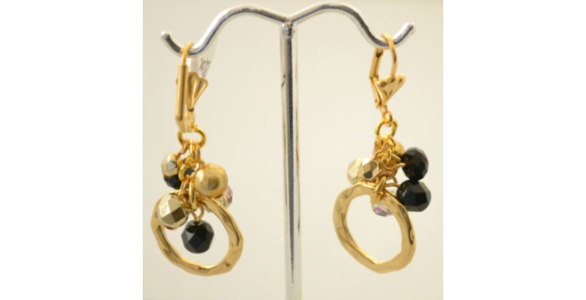 Black & Gold Earings