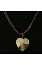 Champaign Heart Crystal Necklace