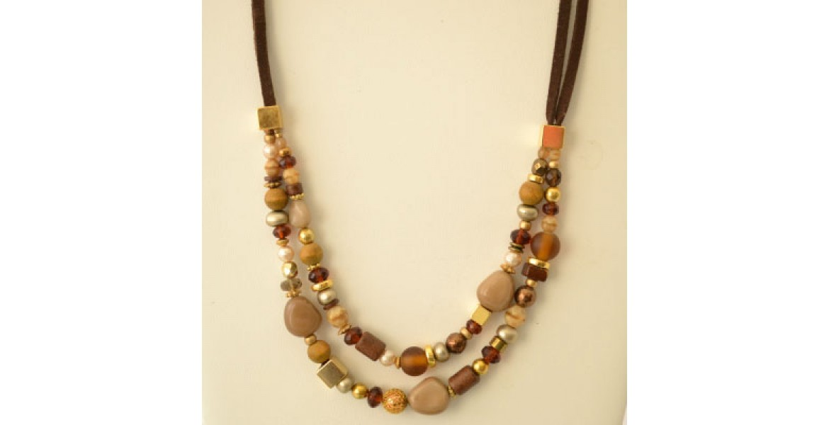 Earthy Delite Stones & Beads Necklace