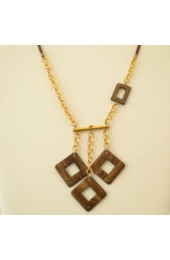 Geometric Squares Necklace