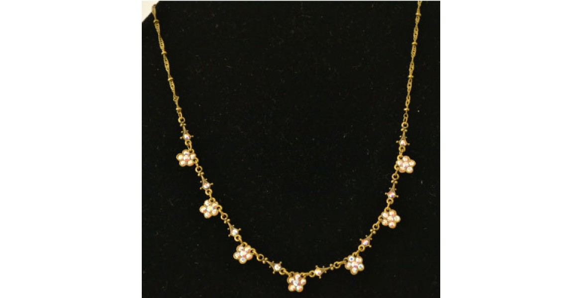 Gold Necklace With Stone accents