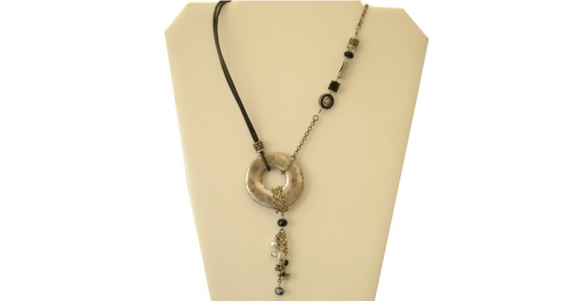 Leather Flair necklace
