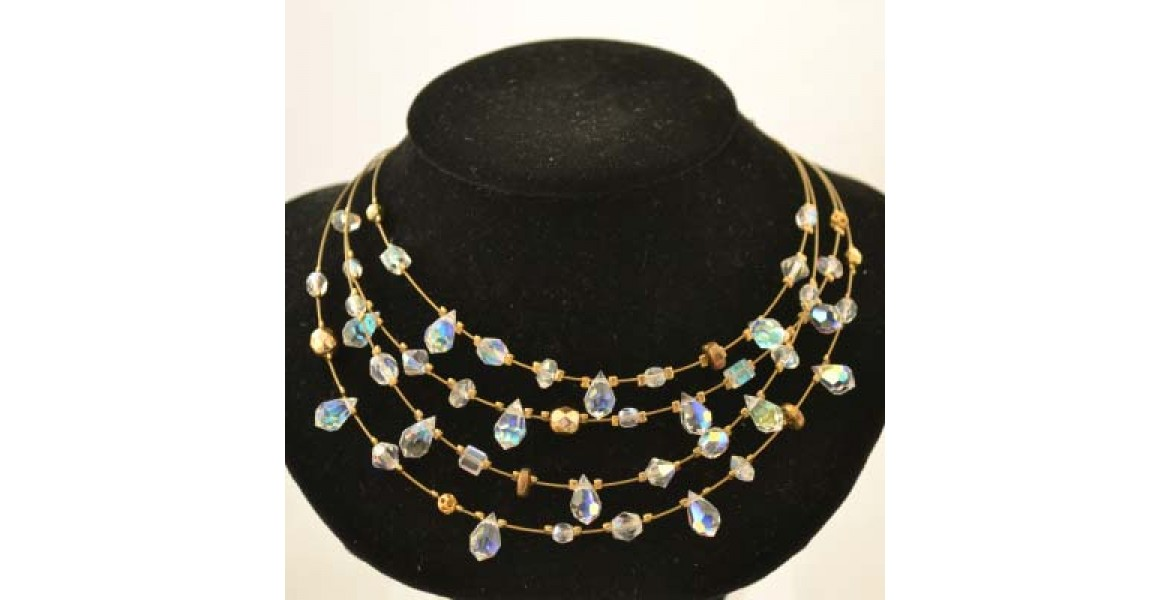 Pearl Mischief Necklace - Blue