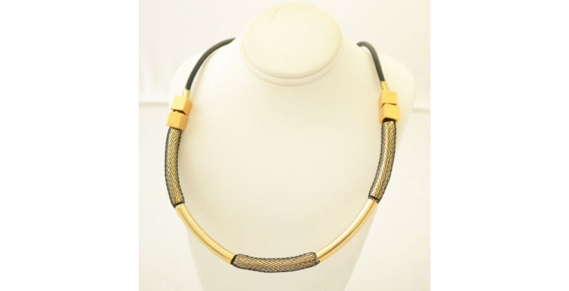 Rocky Island Gold & Black Necklace