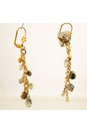 Smokey Gray and Gold Earlings