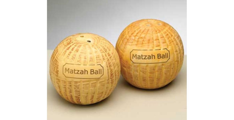 Ceramic Matza Ball Salt & Pepper Shaker Set
