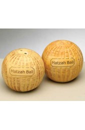 Ceramic Matza Ball Salt & Pepper Shaker Set