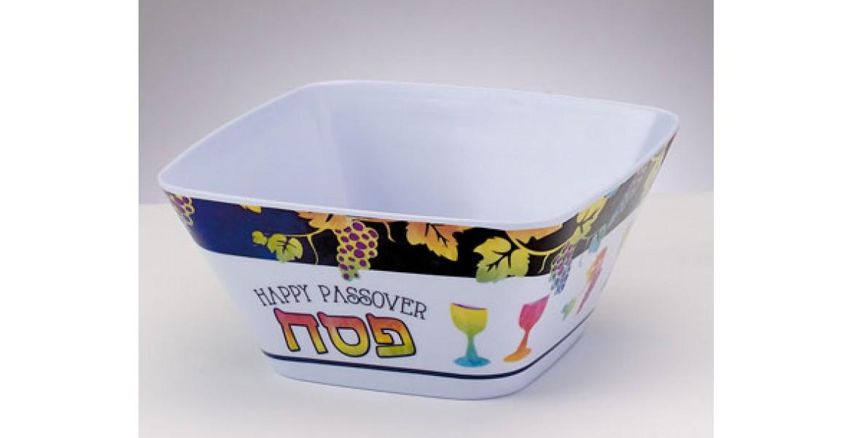 Passover Pastels Square Melamine Bowl