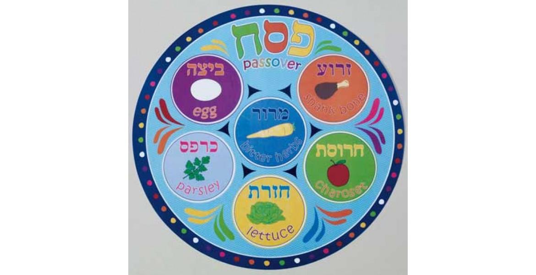 Round Vinyl Passover Placemat