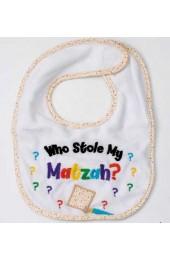 Who Stole My Matzah? Passover Bib