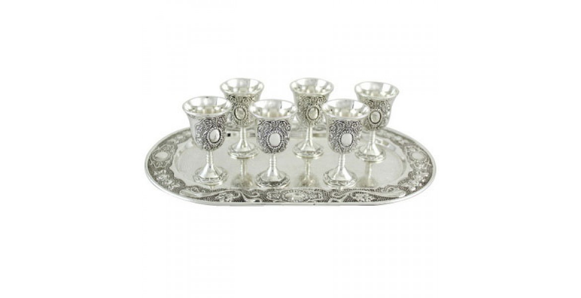Liquor Set - with 6 Cups and Tray