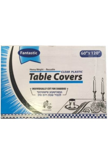 Clear Plastic Tablecovers - 60x120