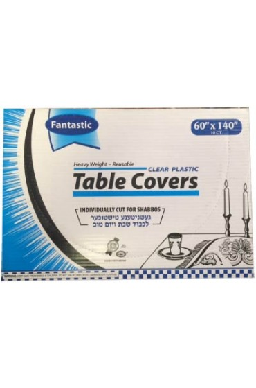 Clear Plastic Tablecovers - 60x140