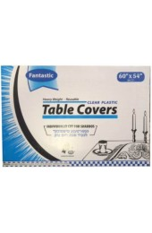 Clear Plastic Tablecovers - 60x54