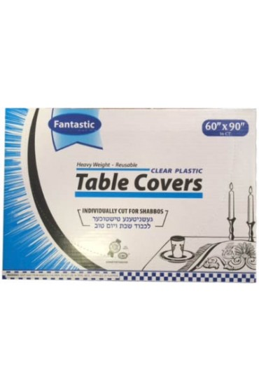 Clear Plastic Tablecovers - 60x90
