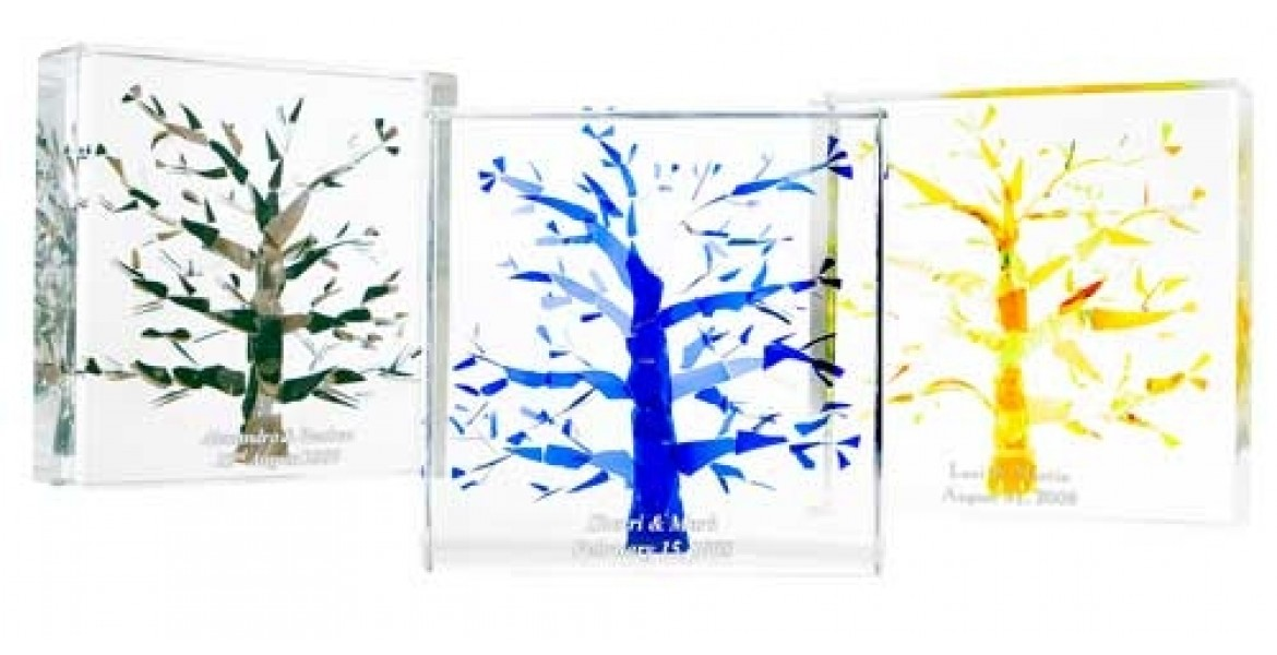 Tree of Life Wedding Glass Lucite